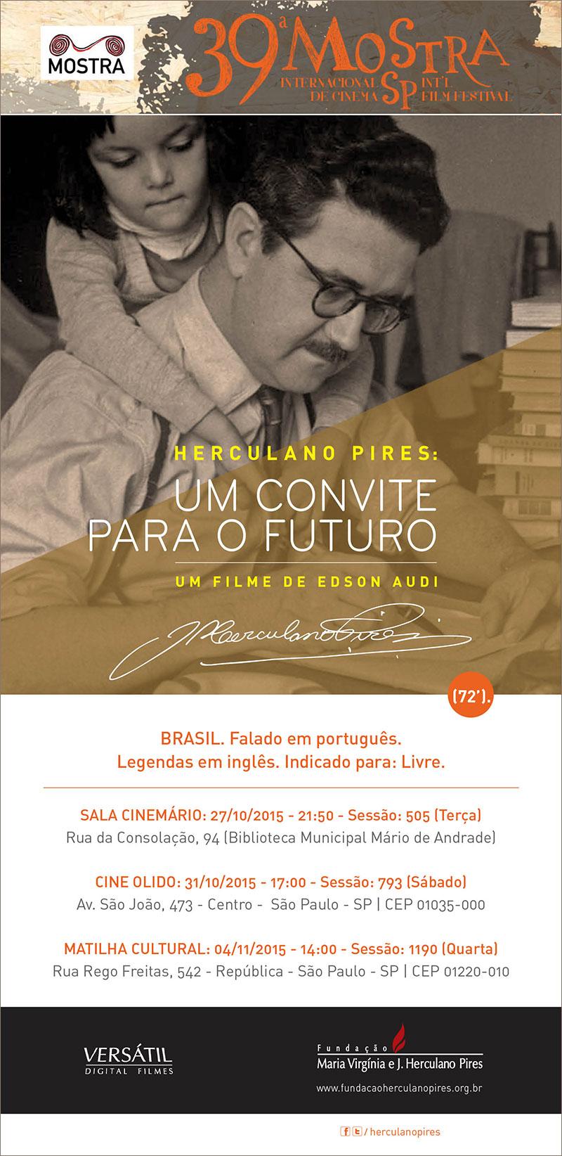 """Lançamento do Filme """"Herculano Pires, um Convite para o Futuro"""""""