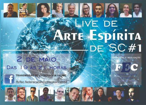 Live com artistas espíritas catarinenses.